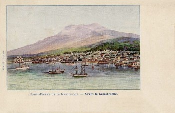 Saint-Pierre de la MArtinique avant la catastrophe de 1902